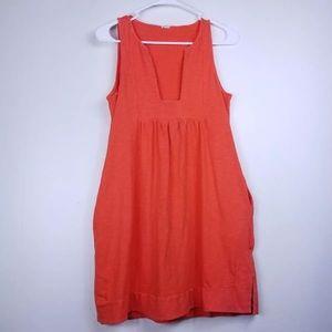 J. Crew orange shift dress with pockets